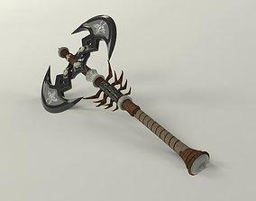 Dwarven Twinblade Axe 3D model