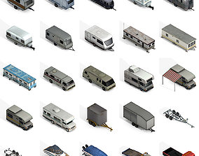 Trailers and Motorhomes Pack 3D asset