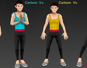 3D model Relaxed Man Character