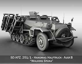 SD KFZ 251 1 - Ausf B - Walking Stuka 3D model