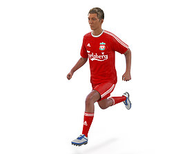 3D Soccer Player Liverpool Rigged 2