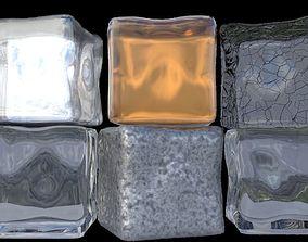 art Ice cubes 3D model