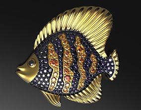 3D printable model Coral reef fish pendant
