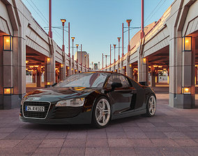 Audi R8 supercar 3D