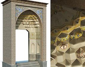 old turkish arch muqarnas set 142 3D asset