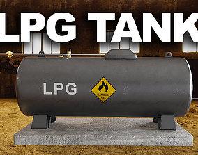 LPG Gas Tank 3D model
