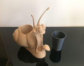 pencil pot toothbrush pot snail 3D printable model
