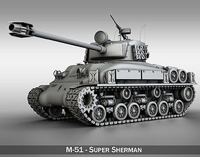 M-51 Super Sherman 3D