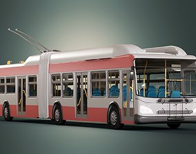 San Francisco Trolleybus SFMTA MUNI Midpoly 3D model