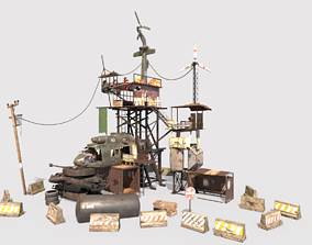3D model Post-Apocalyptic Outpost
