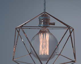 Geometric Edison Light Bulb Lamps 3D