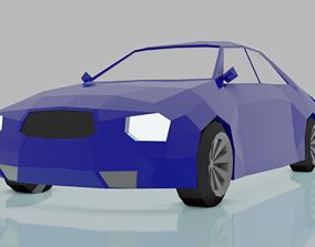 3D asset CAR LOWPOLY racing