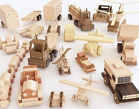 Wooden toy vol 04 3D model