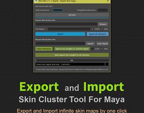 Export - Import SkinCluster scripts 3D