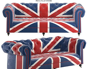 William Sofa Union Jack Velvet Andrew Martin 3D model
