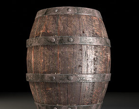 Wooden Barrel Old 3D model