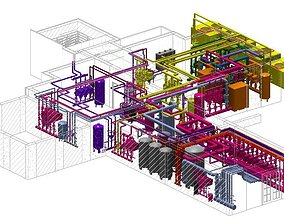 Revit MEP Hospital Project Model 3D