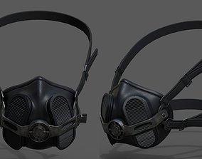 3D model Gas mask helmet scifi futuristic military 1