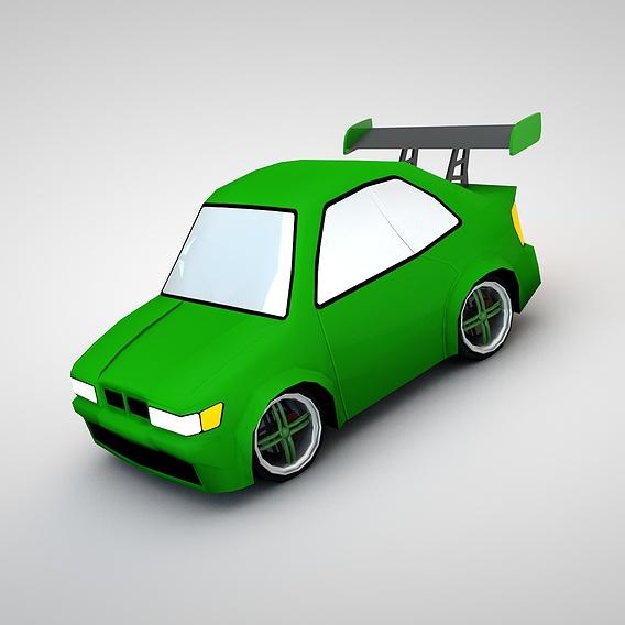 3D Pixel Cartoony Cars