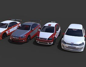 3D model Racing cars