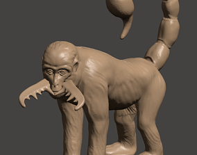 3D Printable Mutant Scorpion Monkey