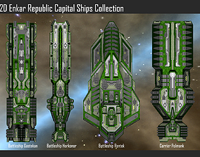 3D model 2D Enkar Republic Capital Ships Collection