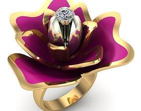 WOMAN RING 3D printable model gold rings