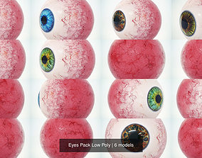 Eyes Pack Low Poly 3D