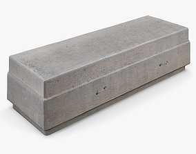 Concrete Bench - 8K Scan 3D model