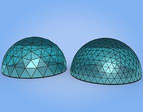 Geodesic Dome 3D model VR / AR ready