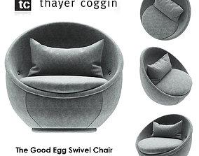 The Good Egg Swivel Chair by Milo Baughman 3D