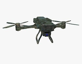 Detailed military drone reconnaissance with pbr 3D model 1