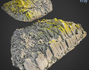 3d scanned rock cliff R