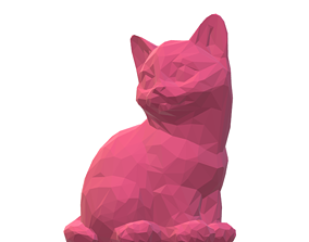 3D model low-poly Cat 2