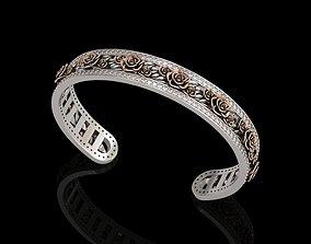 3D print model Rose Cuff Bracelet 1