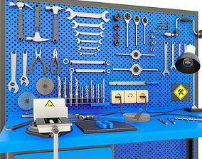 Workbench and garage tools - Collection 3 3D