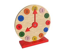 Clock wooden 3D model