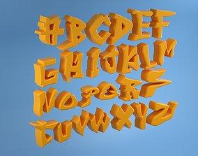 3D Graffiti Alphabet Letters animated