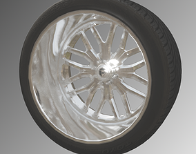 FUEL FORGED FF66 x TOYO PROXES ST 3D model