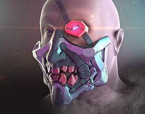3D print model Cyberpunk Demon Ninja Mask