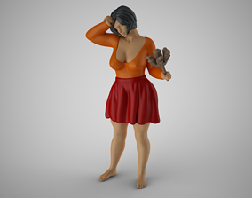 3D printable model Woman Cleaning Home 2