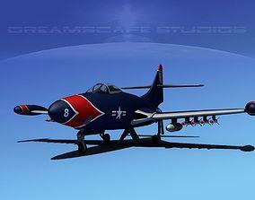 Grumman F9F-5 Panther USMC V01 3D