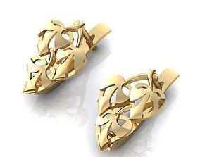 3D printable model Earrings Leaves 169