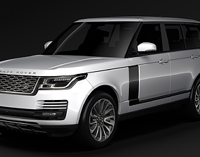 3D model Range Rover P400e Vogue SE L405 2019
