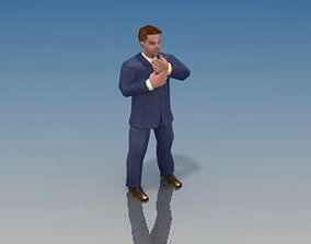 3D asset Businessman Game model