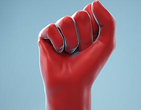 3D Fist Realistic Hand Model 03
