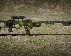 Assault rifle - two color versions 3D model