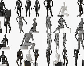 3D model Abstract female mannequin collection 12