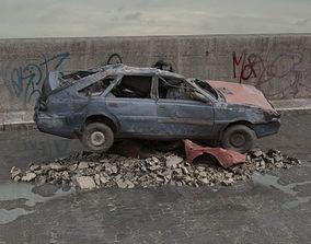 3D destroyed car 077 am165
