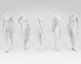 13 piece headless Female Fashion Mannequin bundle 3D asset